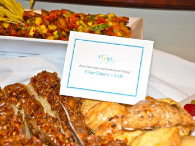 Guests enjoyed hors d'oeuvres as well as baked goods from Flour Bakery.