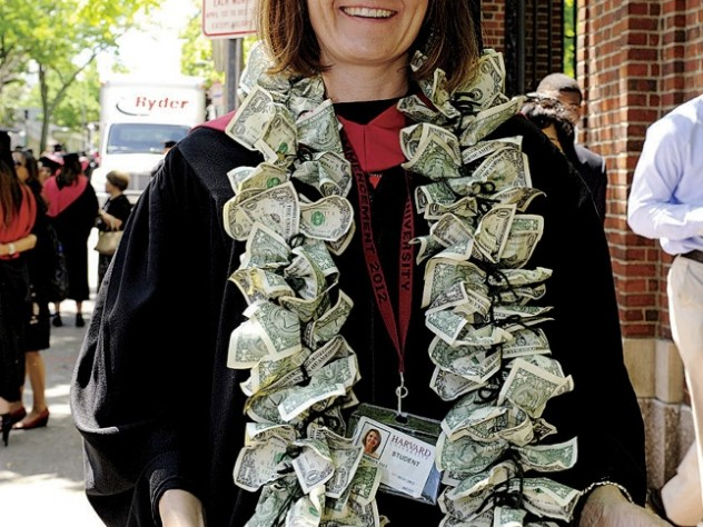 Flaunting the value (or cost?) of her education: Paula Barlow Fiet, Ed.M.