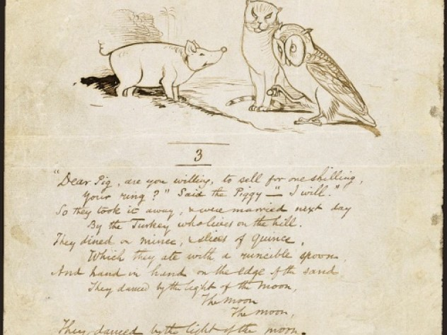 "Verse three of ""The Owl and the Pussycat."""