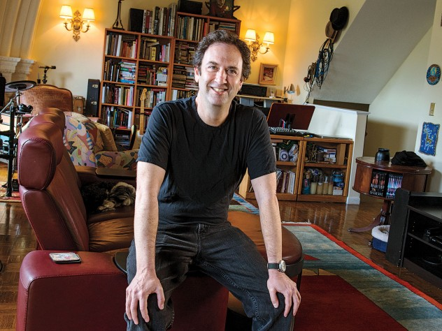 Screenwriter Danny Rubin at home