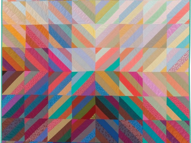 """""""Interweave,"""" a 1982 studio quilt by Michael James. From the Ardis and Robert James Collection."""