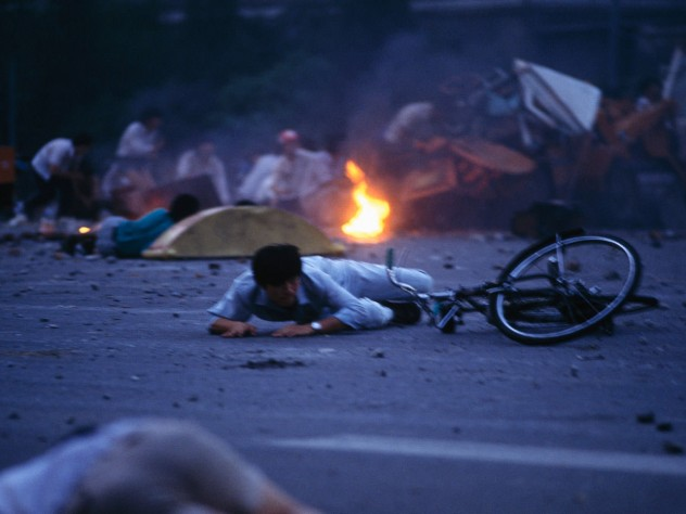 The military crackdown under way, in Tiananmen Square and streets throughout Beijing—China's symbolically important capital city—on the night of June 3