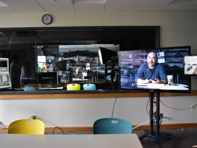 A video-capturing studio in the newly renovated Derek Bok Center for Teaching and Learning