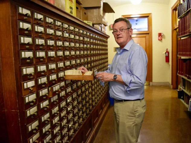 Classics professor Richard Thomas recalls conducting research in Widener before the digital age.