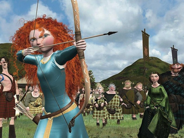 Stills of a high point in the 2012 film <i>Brave,</i> before