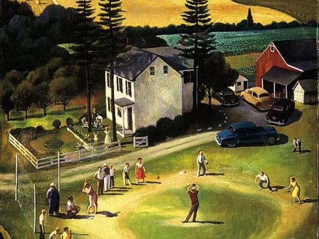 <i>Family Picnic</i> (1950), by John Falter
