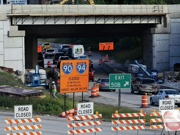 Congestion from catch-up highway reconstruction in Chicago