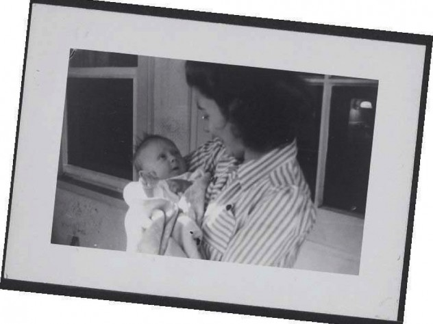 Photograph of Harriet Earhart and her baby