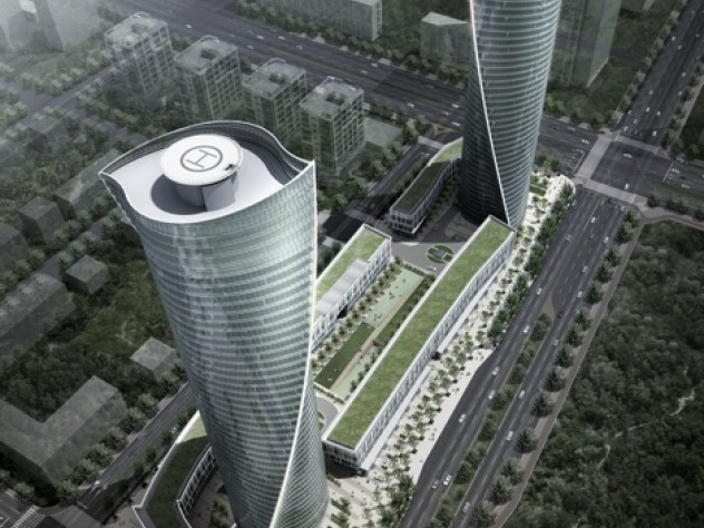 By using a honeycomb-like structural system for a series of towers in New Songdo City, South Korea, instead of the standard approach—in which structural members are forced to twist—HOK was able to use less material and keep costs low.