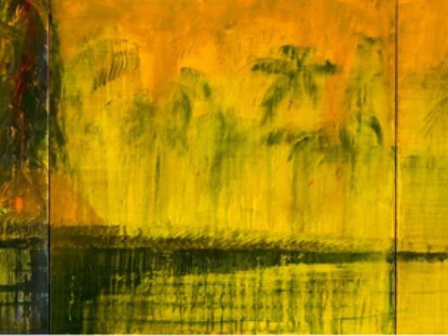 <em>Kerala Spice Coast After the Rain</em> (oil on canvas, 2009)