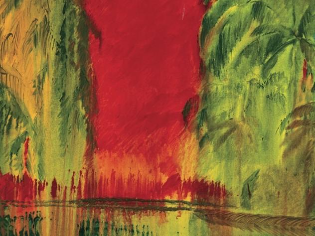<em>Sunset at Mankotta 3</em> (oil on canvas, 2009