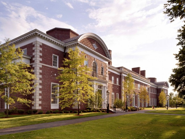 "Spangler Center, Business School Campus, 2001 (<a href=""http://harvardmagazine.com/1999/09/south-by-north-harvard"">View building construction photographs</a>)"