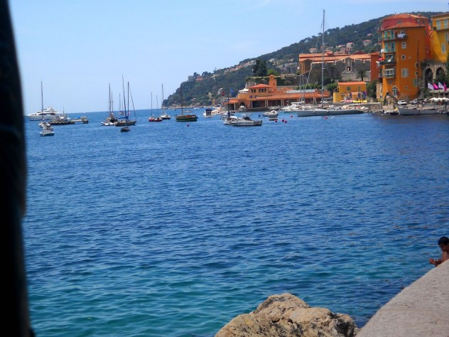 The coastline of Villefranche-sur-Mer