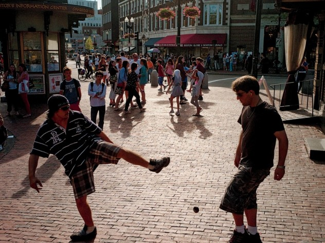 The Square has always attracted those who want to shop, eat, gawk, and play.
