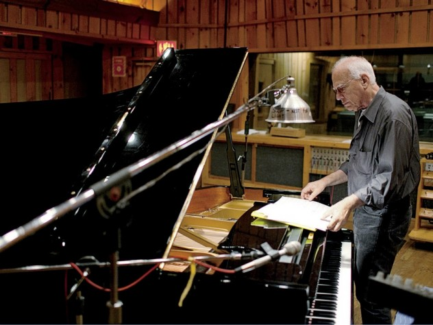 Pianist Steve Kuhn at Avatar Studios in New York City, during a 2011 recording session for his album <i>Wisteria</i>