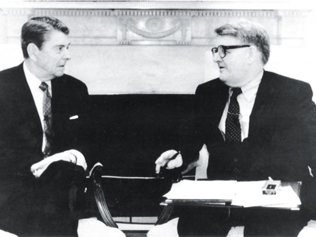 "Ronald Reagan wrote in his presidential diary for September 12, 1988: ""Then a briefing for a pleasant interview which took place at 11:30 with Warren Brooks [sic] my favorite Ec. columnist."""