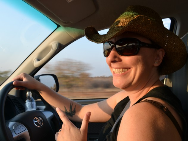 Assistant professor of human evolutionary biology Katie Hinde in Namibia