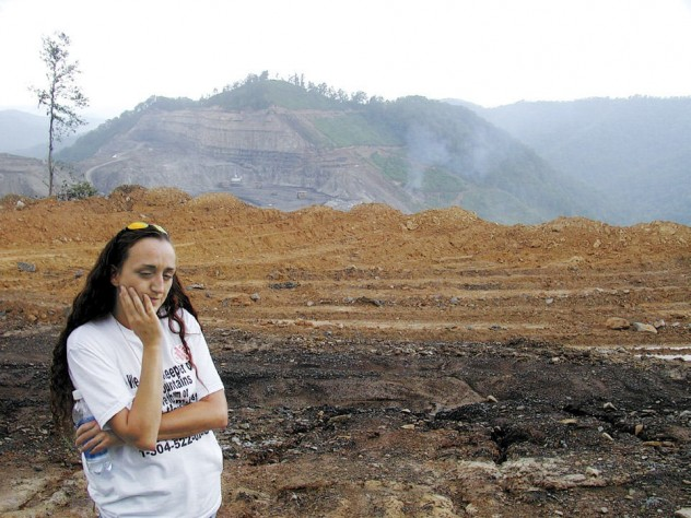 Local activists speak out against the mountaintop-removal of coal in Haney's film <i>The Last Mountain.</i>