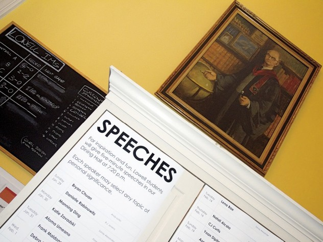 The speech schedule tells the House community who among them will appear—but barely hints at the cathartic discoveries that may await.