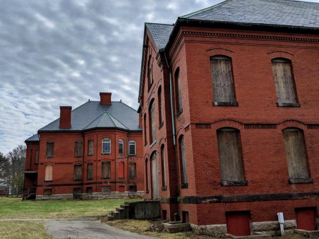 Buildings at the historic Medfield State Hospital complex