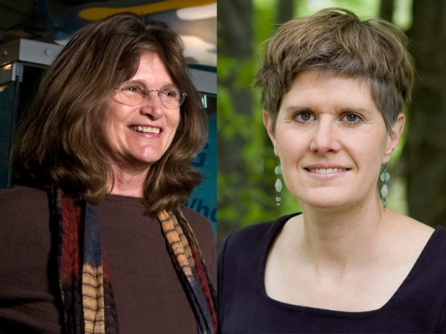 From left: Nancy Knowlton and Sandra Steingraber