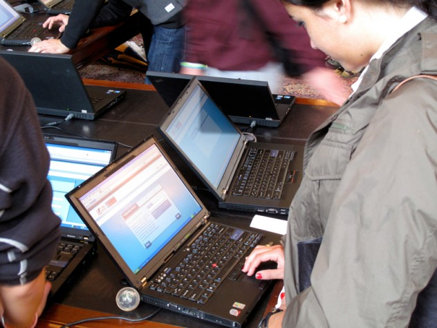 A student registers with TurboVote.