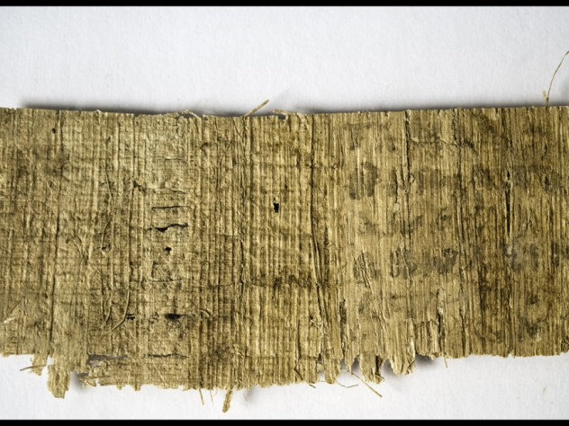 "Although the back of of the papyrus fragment appears blank, infrared photography has revealed the presence of a few words, including ""my mother"" and ""three."""