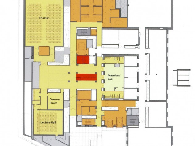 "Lower Level - View <a href=""http://harvardmagazine.com/sites/default/files/img/article/0913/LowerLevelsm.jpg"">larger floor plan</a>"