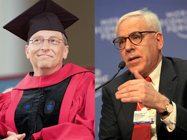Honorand Bill Gates, the guest speaker at the 2007 Commencement, relished receiving a Harvard degree a mere three decades late. David M. Rubenstein is a co-chair of The Harvard Campaign.