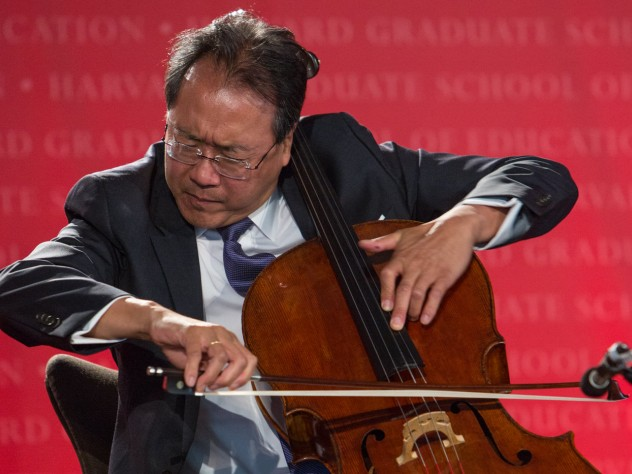 Yo-Yo Ma '76, D.Mus. '91, performed with his group, the Silk Road Project.