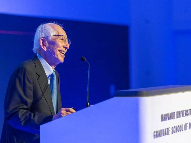 Pritzker laureate Fumihiko Maki, M.Arch. '54, closes the weekend's events with a Saturday evening speech in Piper Auditorium.