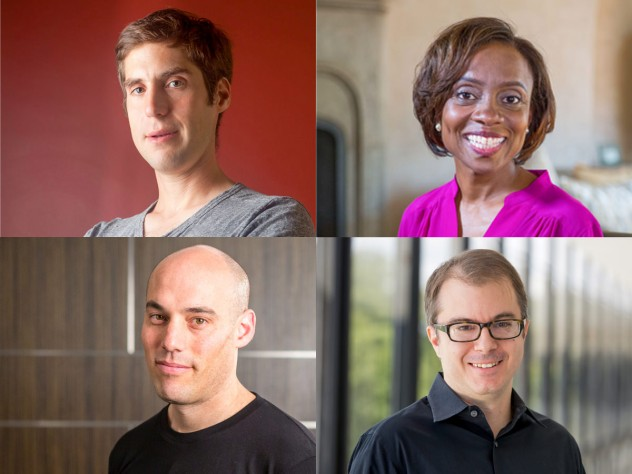 MacArthur winners (top row) Jacob Lurie and Jennifer Eberhardt; (second row, from left) Joshua Oppenheimer and Craig Gentry