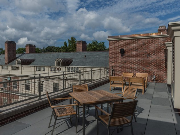 The new rooftop terrace at Winthrop House