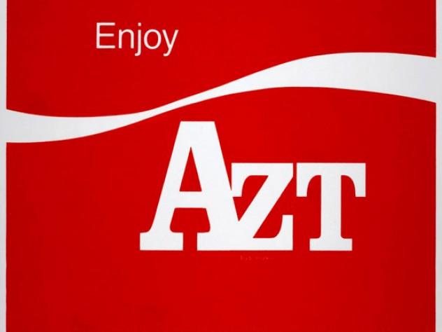 Vincent Gagliostro, <i>Enjoy AZT,</i> 1993, screen print