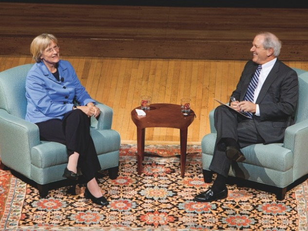 Drew Faust and Charlie Gibson  in conversation