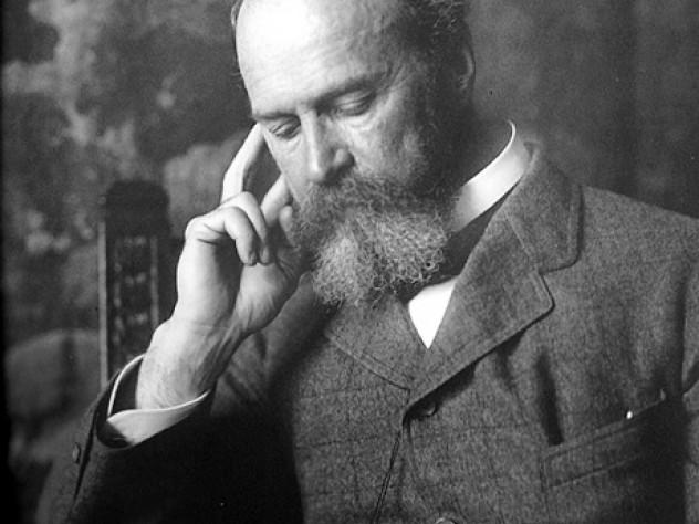 William James reading, 1895