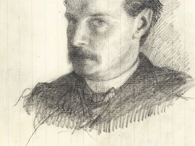 An 1866 self-portrait, when James was about 24 years old