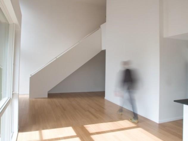 Interior of a condo at the Penn Street Lofts