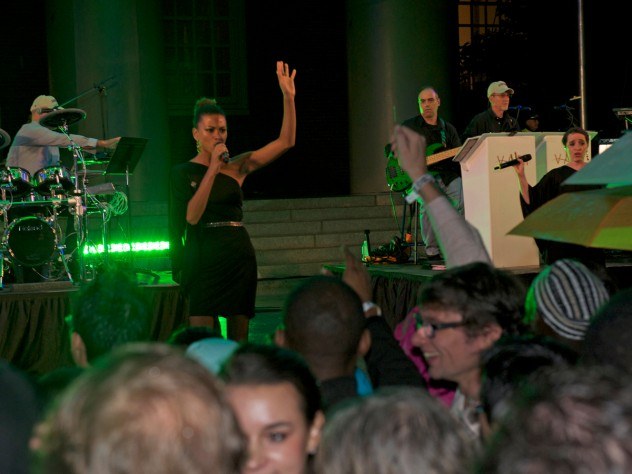 After the ceremony ended, the Jimmy Vali band played popular songs late into the night to keep partygoers dancing.
