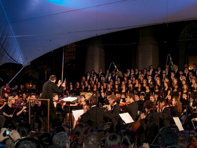 The Harvard-Radcliffe Orchestra performed as part of the evening's main ceremony.
