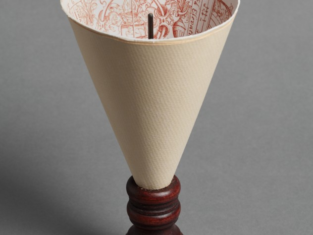 Side view of the facsimile made by the Harvard Art Museum