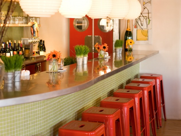 The bar at Vinaigrette