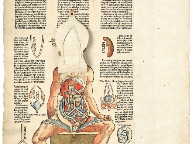 In Heinrich Vogtherr the Elder's 1544 <i>Anatomy; or a faithful reproduction of the body of a female</i>, paper flaps allow internal exploration of the human body.