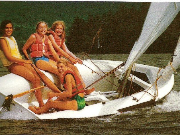 Ruane (top right) in her camper days