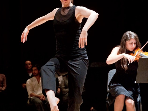 """Jill Johnson performs during """"The Art of Survival: A Tenth Anniversary Observance of 9/11 in Words, Music, and Dance"""" at Sanders Theatre."""