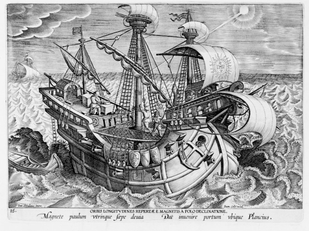 Hans Collaert the Younger, after Stradanus (Jan van der Straet), <i>Discovery of the Establishment of the Longitudes,</i> from <i>Nova reperta</i> (New inventions and discoveries of modern times), c. 1599–1603. Engraving.