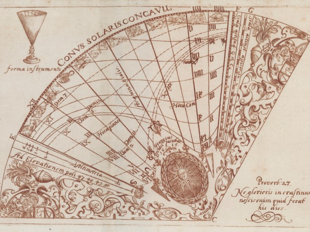 Georg Brentel the Younger, from <i>Pamphlet describing the construction and function of a conical sundial,</i> Lauingen: Jacob Winter, 1615. Pamphlet with engravings and woodcuts.