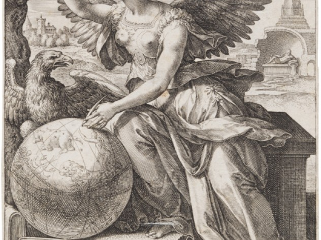 Jan Sadeler I, after Maarten de Vos,<i> Astronomy,</i> from the series <i>The Seven Liberal Arts,</i> after 1575. Engraving