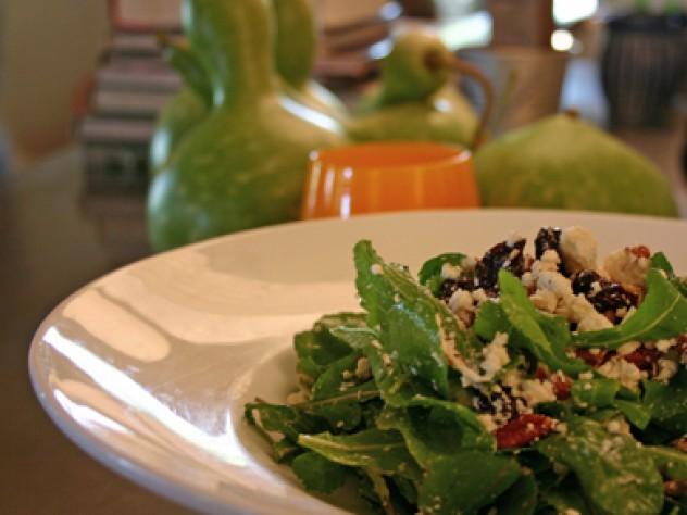 Wade's Cherry Tart salad at Vinaigrette in Santa Fe