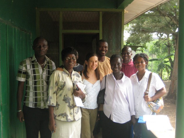 Betancourt with members of her research team for the longitudinal study of war-affected youth in Sierra Leone
